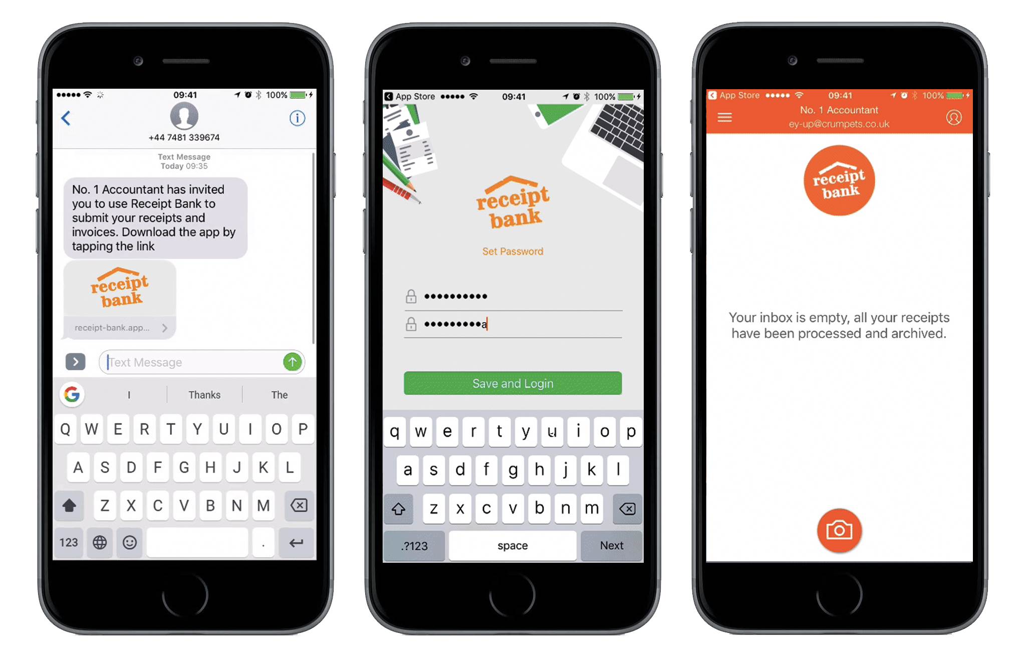 New countries available for Receipt Bank's SMS invitations